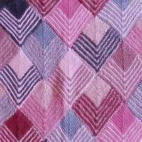 Dominostrikket sjal med små tern rosa udsnit shop