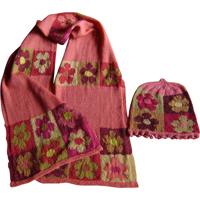 Gobelin halstørklæde og hue