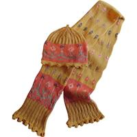 Halstørklæde og hue i gul