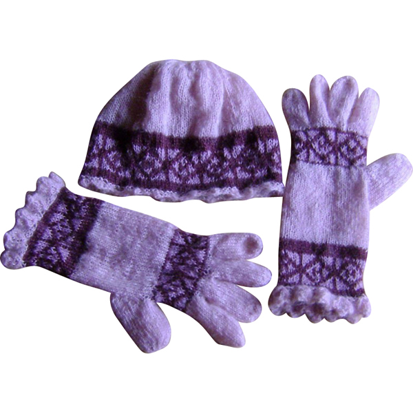 hue og handsker i mohair - rosa 600x600