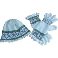 hue og handsker i mohair