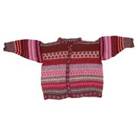 rød mohair uld trøje