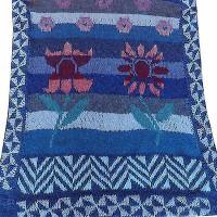 tørklæde med blomster på stilk udsnit shop