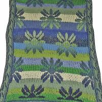 tørklæde med græske blomster udsnit shop