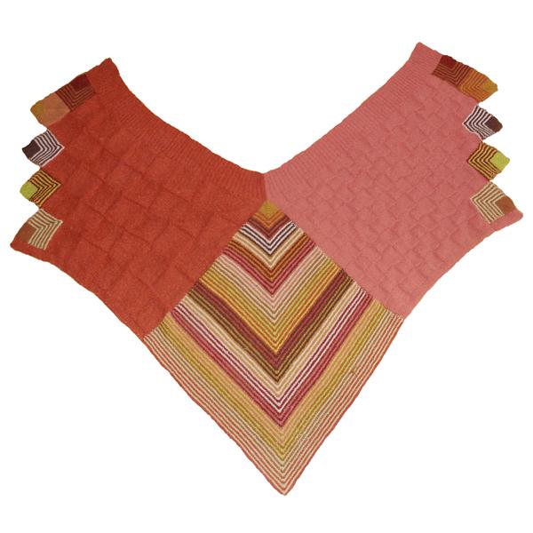 600x600 stort sjal med firkanter